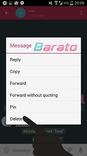آموزش تصویری پین پیام در تلگرام اندروید