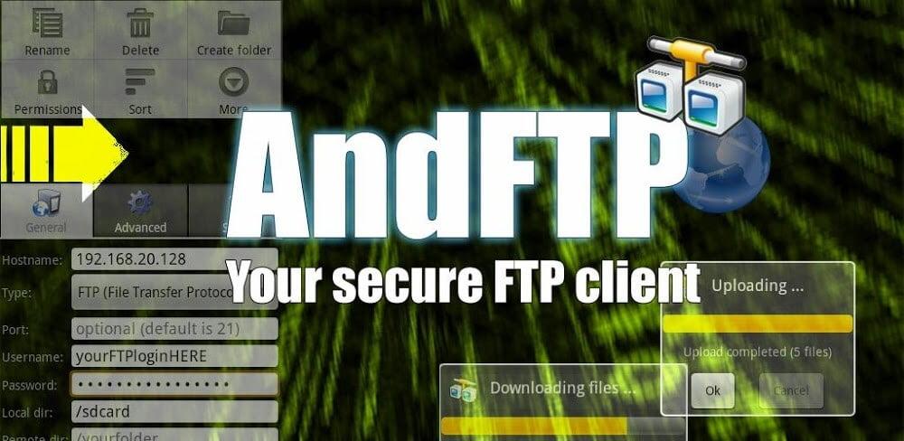 دانلود AndFTP 5.0.3 نسخه جدید برنامه مدیریت FTP برای اندروید