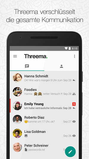دانلود Threema مسنجر امن تریما برای اندروید
