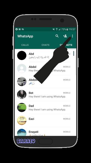 آموزش تصویری حذف مخاطب در واتس اپ اندروید + اضافه کردن