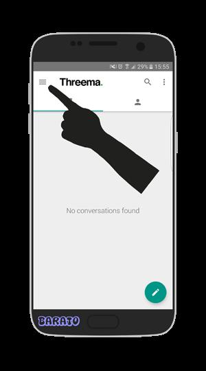آموزش تصویری حذف اکانت تریما Threema در اندروید