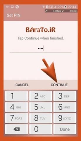 آموزش تصویری تغییر رمز گوشی اندروید