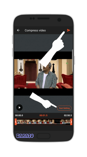 آموزش تصویری کاهش حجم فیلم در اندروید