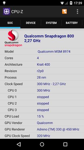 دانلود CPU-Z نمایش مشخصات سخت افزار گوشی اندروید