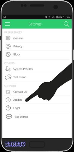 آموزش تصویری حذف اکانت نامبر بوک NumberBook در اندروید