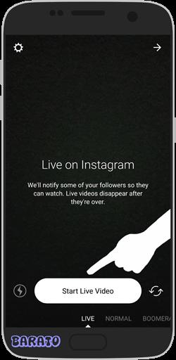 آموزش تصویری قرار دادن ویدیو زنده در اینستاگرام - پخش زنده