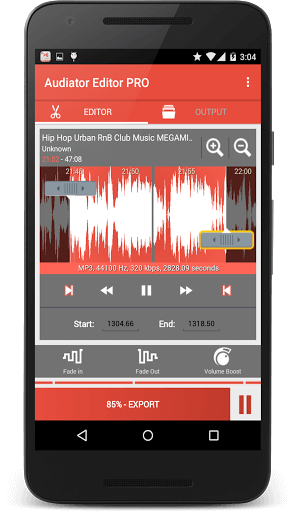 دانلود Audio Editor Pro نرم افزار ویرایش فایل های صوتی برای اندروید