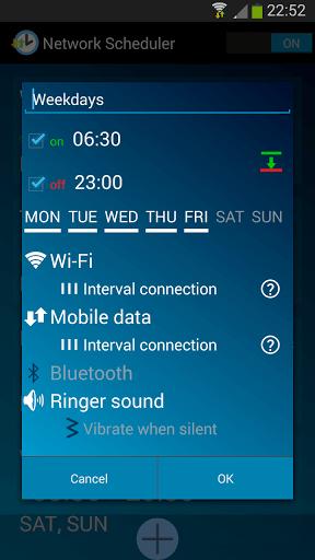 دانلود Network Scheduler خاموش و روشن کردن خودکار داده همراه اندروید