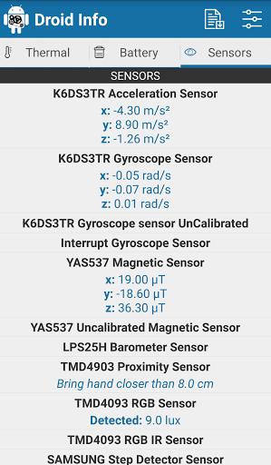 دانلود Droid Info برنامه نمایش مشخصات پردازنده گوشی اندروید