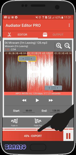 آموزش تصویری برش اهنگ در اندروید + برای قرار دادن برای زنگ