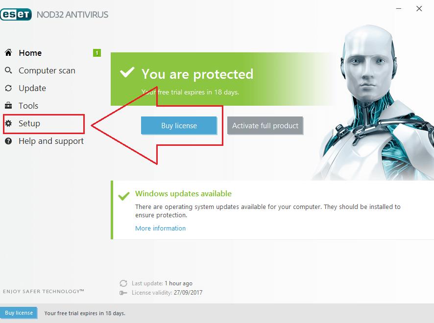 آموزش رفع بلاک شدن سایت در آنتی ویروس نود 32 ESET Nod32