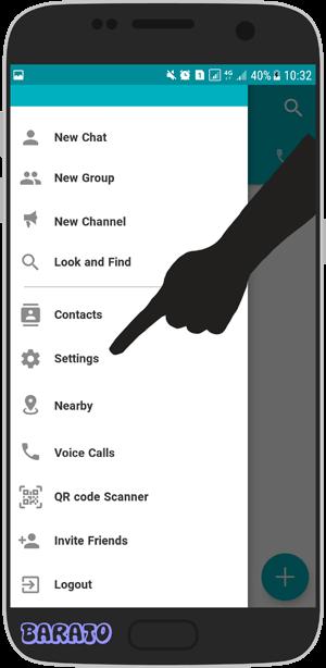 آموزش تصویری حذف اکانت آی گپ iGap در اندروید