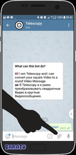 آموزش تصویری ساخت ویدیو دایره ای در تلگرام + ربات