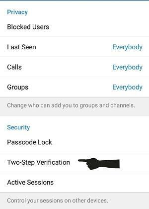 آموزش تصویری فعال کردن رمز دوم در تلگرام - تایید دو مرحله ای