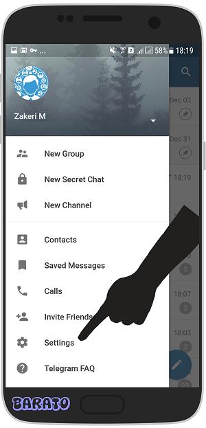 آموزش تصویری قطع دسترسی تلگرام از مخاطبین در اندروید