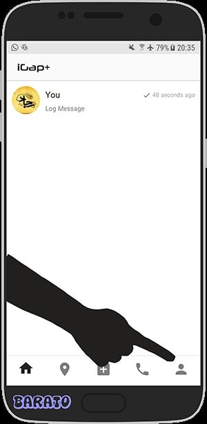 آموزش تصویری حذف اکانت آی گپ پلاس در اندروید