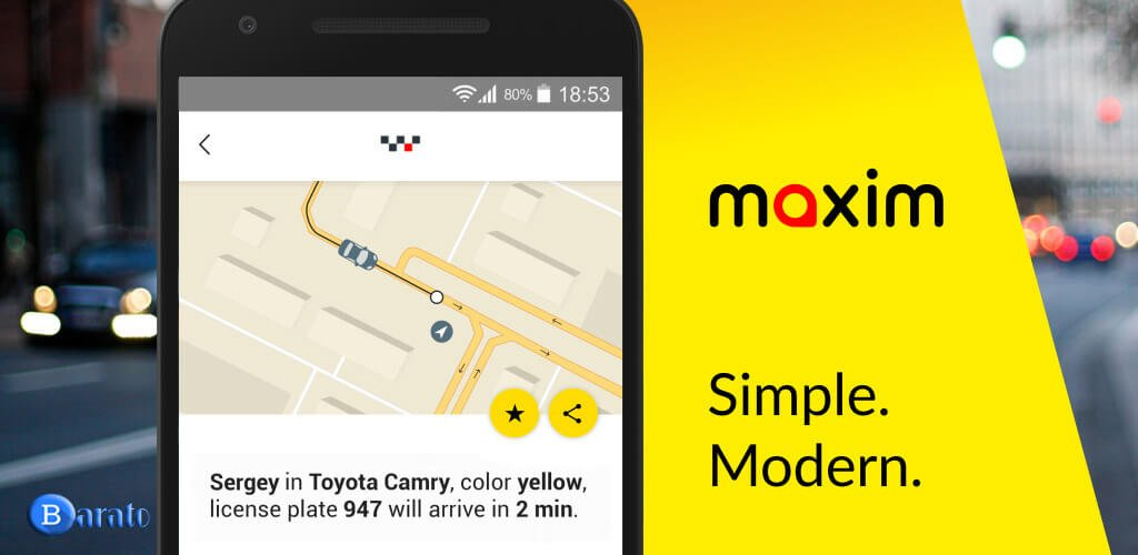 دانلود Maxim 3.4.4 نسخه جدید ماکسیم درخواست خودرو مسافر برای اندروید