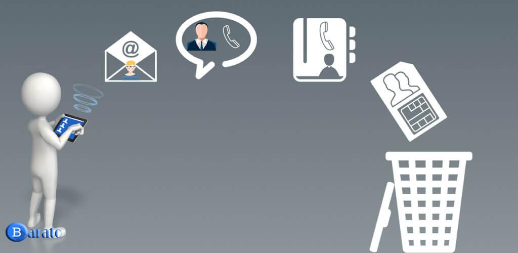 آموزش تصویری حذف مخاطبین در گوشی اندروید
