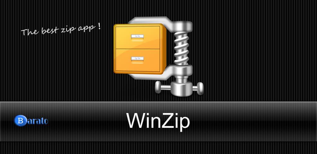 آموزش تصویری ساخت فایل zip زیپ با برنامه WinZip در اندروید