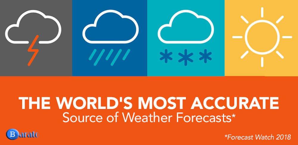 دانلود AccuWeather 5.8.0.7 نسخه جدید برنامه دقیق ترین برنامه هواشناسی اندروید