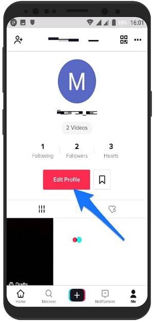 آموزش تصویر تغییر عکس پروفایل در تیک تاک موزیکالی اندروید
