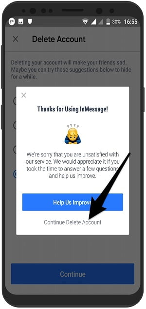 آموزش تصویری حذف اکانت اینستا مسنجر InstaMessage در اندروید