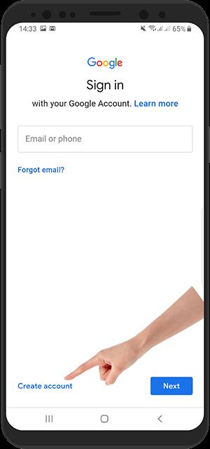 آموزش جیمیل Gmail ساخت حساب جدید در برنامه جیمیل اندروید