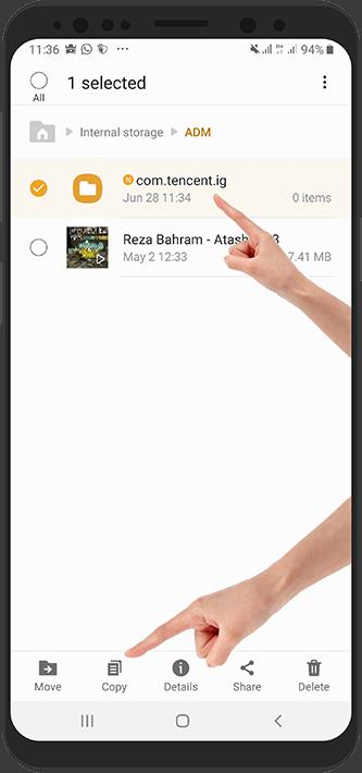آموزش تصویری نصب بازی دیتا دار اندروید با برنامه RAR