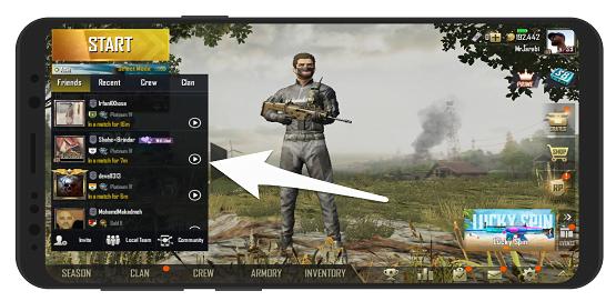 آموزش مشاهده آنلاین بازی دوستان در پابجی موبایل PUBG
