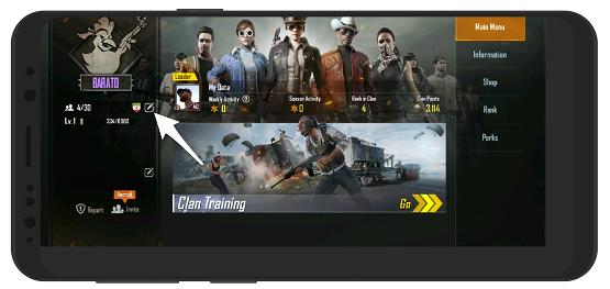 آموزش تصویری تغییر اسم کلن در بازی پابجی موبایل PUBG Mobile