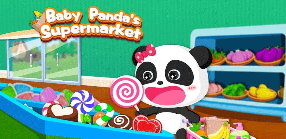 دانلود Baby Panda's Supermarket بازی سوپرمارکت پاندا کوچولو برای اندروید