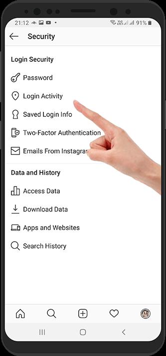 آموزش بررسی لیست دستگاه های متصل به اکانت اینستاگرام - دستگاه های فعال
