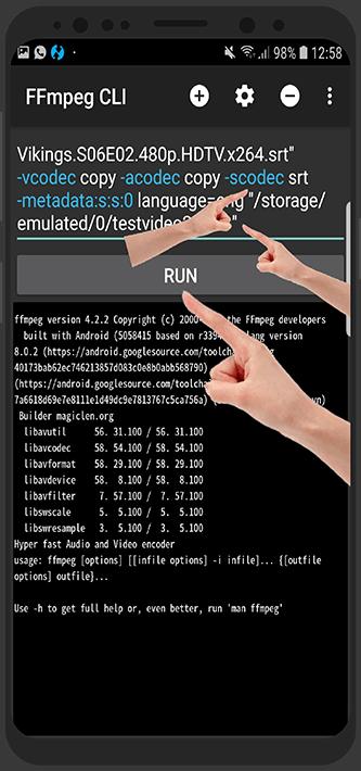 آموزش FFmpeg CLI - آموزش چسباندن دائمی زیرنویس به فیلم در اندروید