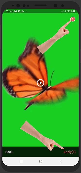 آموزش تصویری حذف پس زمینه ویدیو در اندروید با وی شات Vshot زمینه سبز