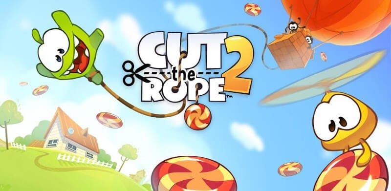 دانلود Cut the Rope 2 1.26.0 نسخه جدید ام نم 2 بازی طناب را قطع کن 2 برای اندروید