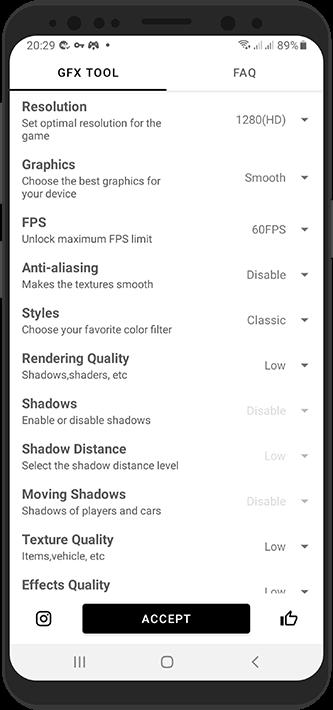بهترین تنظیمات GFX Tool برای بازی پابجی موبایل در گوشی اندروید