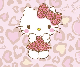 دانلود Hello Kitty Pink Leopard تم جدید لاین هلو کیتی
