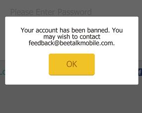 مشکل بن شدن یا مسدود شدن بیتالک حساب BeeTalk