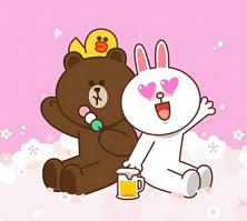 دانلود Brown & Cony's Sakura Love Date تم جدید مسنجر لاین